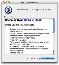 Spanning Sync v1.0b16